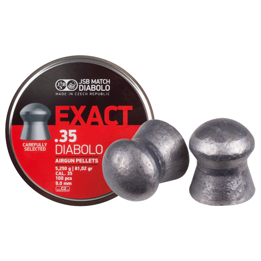 JSB Diabolo Exact .35 Cal,81.02 gr, Domed-100 cts