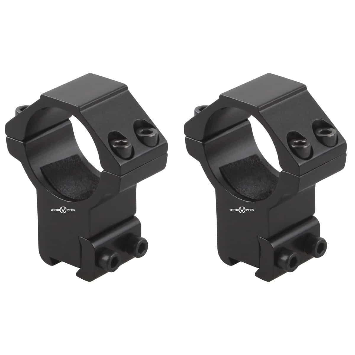 Vector Optics 30mm Dovetail Rings: High(SCOT-55H)